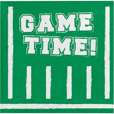 16ct Game Time Beverage Napkins