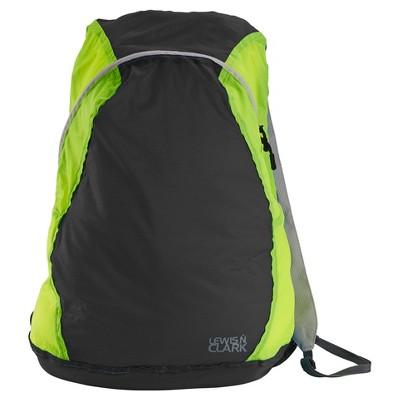 "Lewis N. Clark Electrolight 17"" Backpack - Charcoal/Neon Lemon"