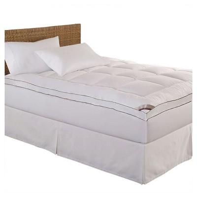 100% Cotton Fiber Mattress Pad White - Kathy Ireland