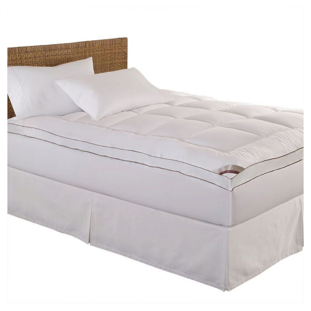 Image of Full 100% Cotton Fiber Mattress Pad White - Kathy Ireland