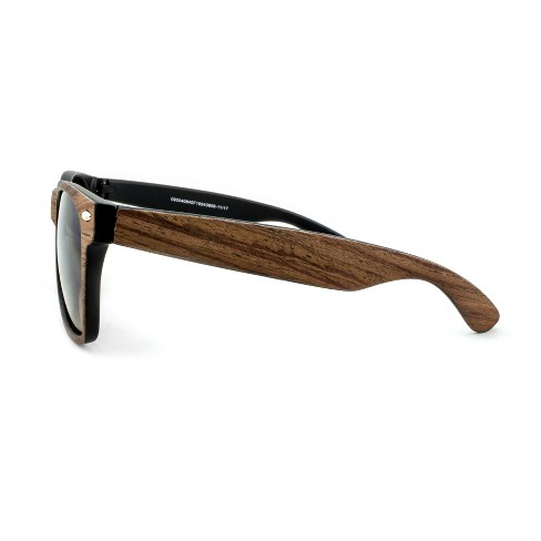 feaf53942e92c Men s Surf Shade Sunglasses with Wooden Textured Frame - Goodfellow   Co™  Brown. Shop all Goodfellow   Co