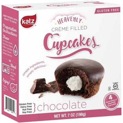 Katz Gluten Free Creme Filled  Chocolate Cupcakes - 7oz
