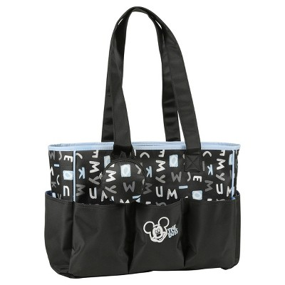 Disney Mickey Mouse Letters Diaper Bag 3pc - Black Letters