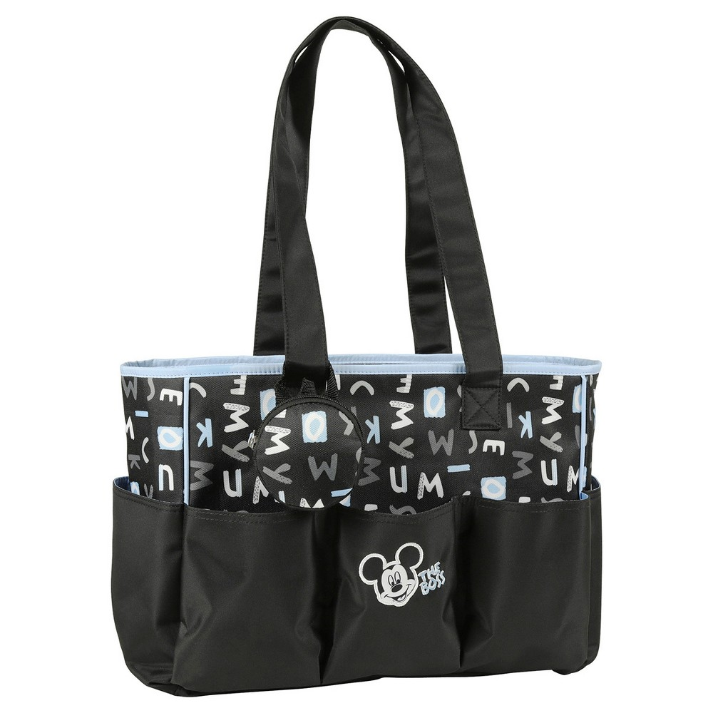 Baby Boy Disney Mickey Mouse Logo Diaper Bag Black White From 1599 Luggage Tag Head Letters 3pc