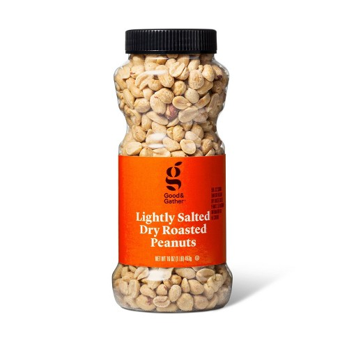 Lightly Salted Dry Roasted Peanuts - 16oz - Good & Gather™ - image 1 of 3