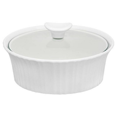 CorningWare 1.5qt Casserole with Glass Cover White