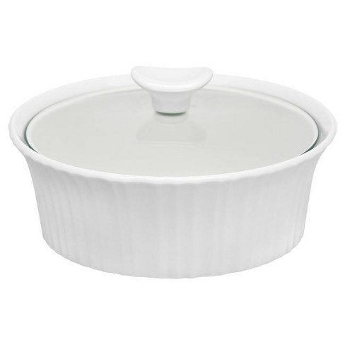 CorningWare 1.5qt Casserole with Glass Cover White - image 1 of 1