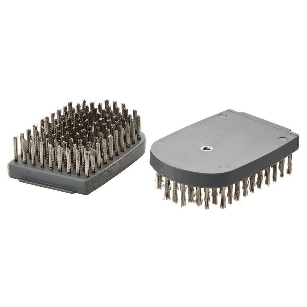 Sabatier Set of 2 Replacement Grill Brush Heads (for Stainless Steel Grill Brush), Black This Sabatier Set of 2 Grill Brush Replacement Heads are great to have handy when the bristles on your grill brush begin to wear out. Stainless steel bristles easily remove gristle and baked on food from your grill. Set of 2. Dishwasher safe. Color: Black.