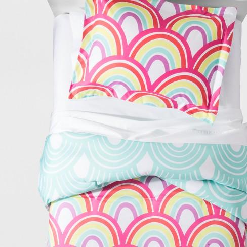 Rainbow Comforter Set - Pillowfort™ - image 1 of 4