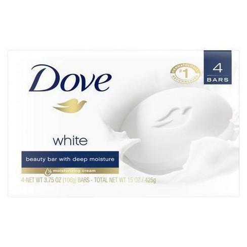 Dove White Deep Moisture Beauty Bar Soap - 3.75oz/4ct - image 1 of 4
