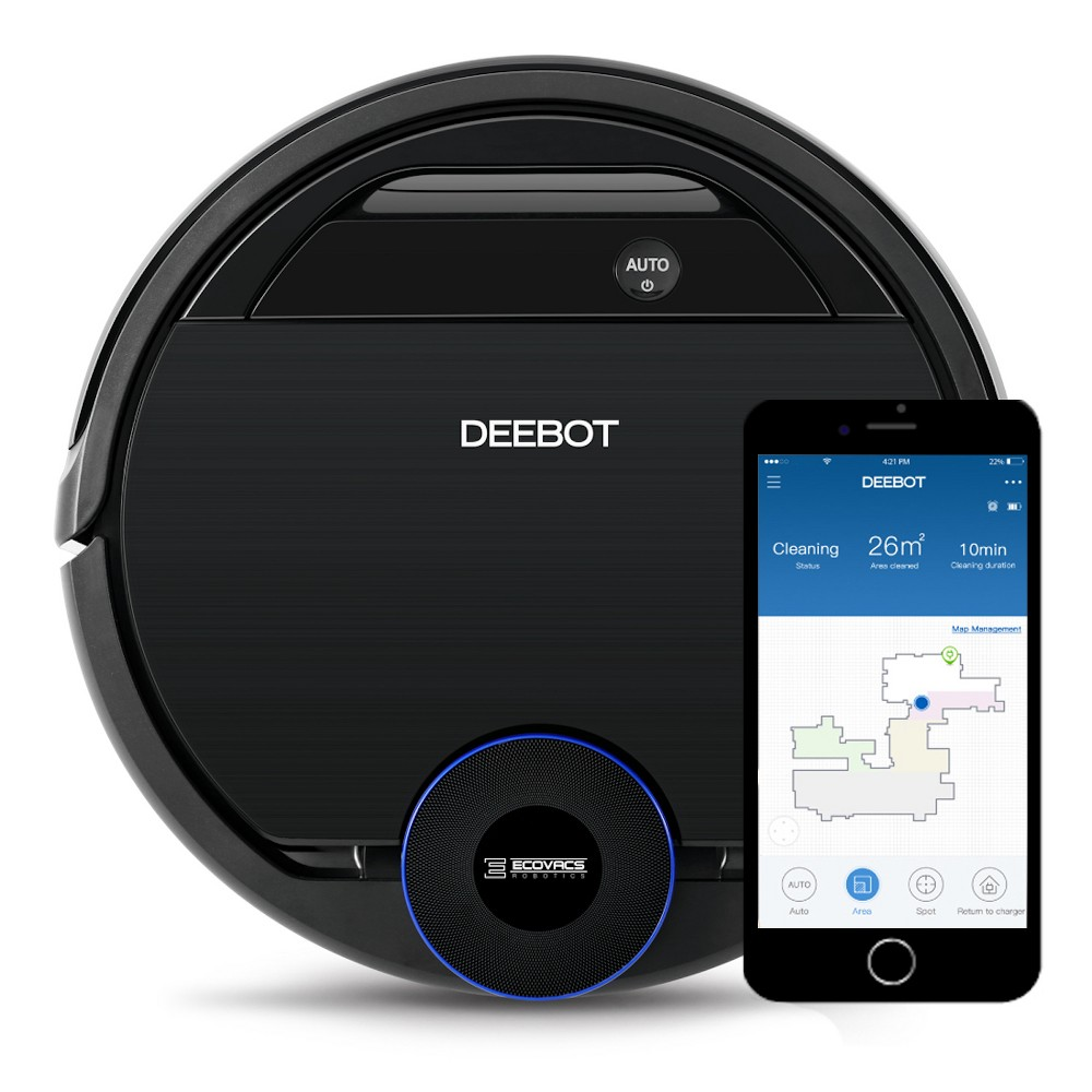 Image of Ecovacs DEEBOT OZMO 930 Smart Robotic Vacuum Cleaner OZMO Mopping with Advanced Navigation & Mapping, Black