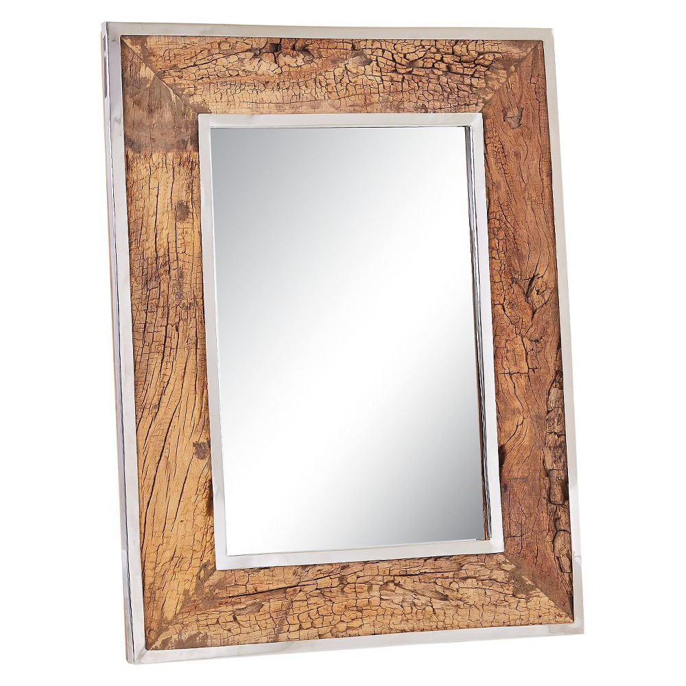 Image of Rectangle Brando Decorative Wall Mirror Brown - Go Home