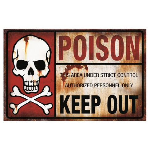 Halloween Metal Sign-Poison - image 1 of 1