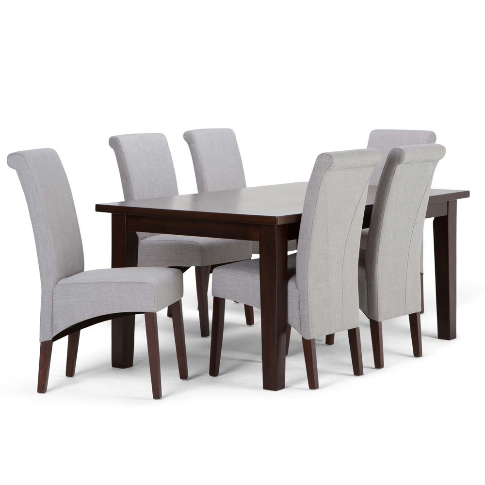 FranklSolid Hardwood 7pc Dining Set Dove Gray - Wyndenhall