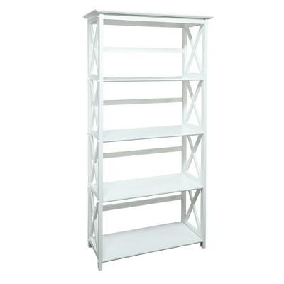 63  Montego 5 Shelf Bookcase White - Flora Home