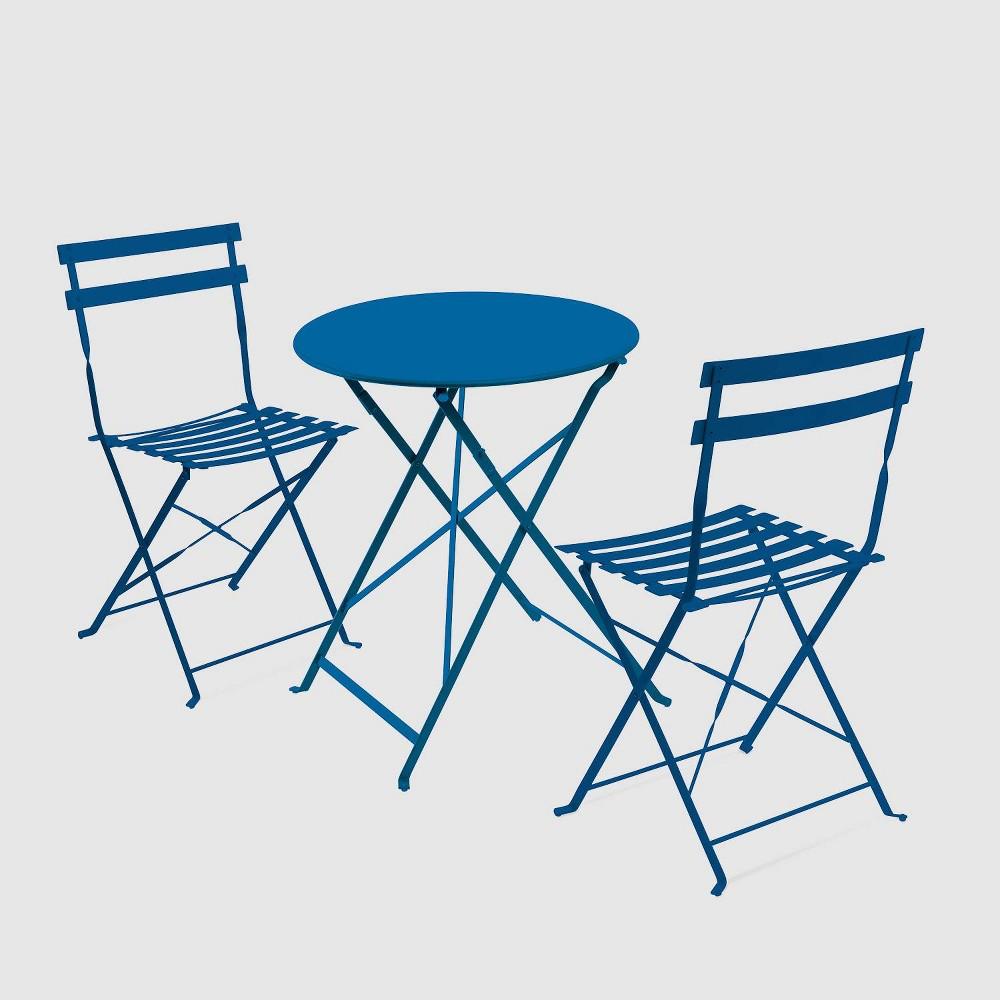 Café Indoor/Outdoor 3pc Bistro Set - Snorkel Blue - Jamesdar