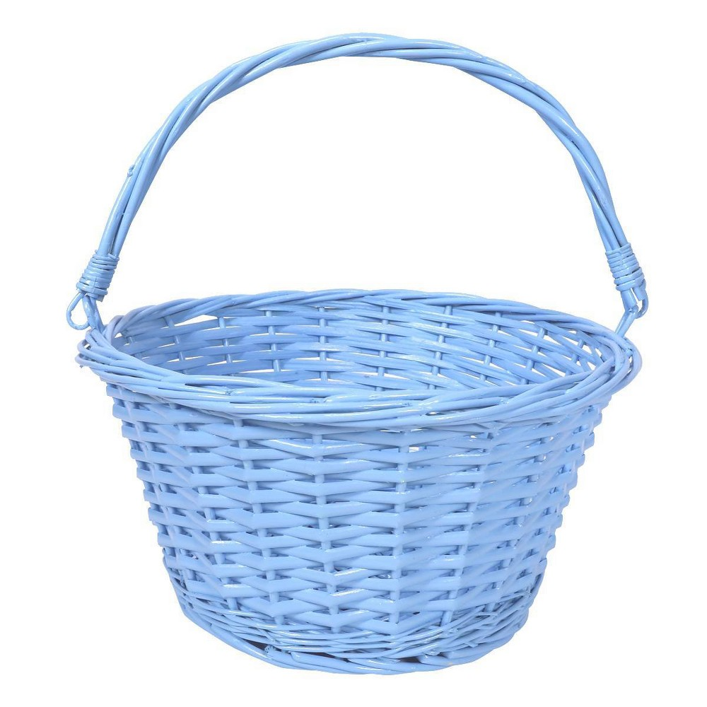 "Image of ""12"""" Willow Easter Basket Blue - Spritz"""