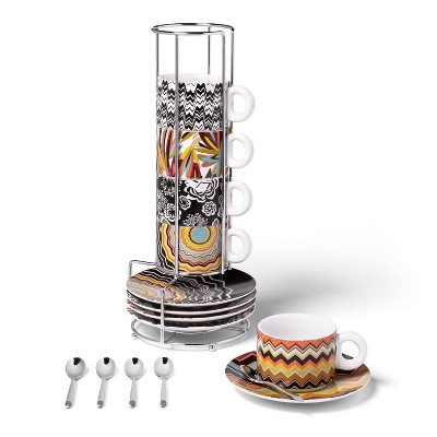 Stoneware Stacking Espresso Set with Spoons - Missoni for Target
