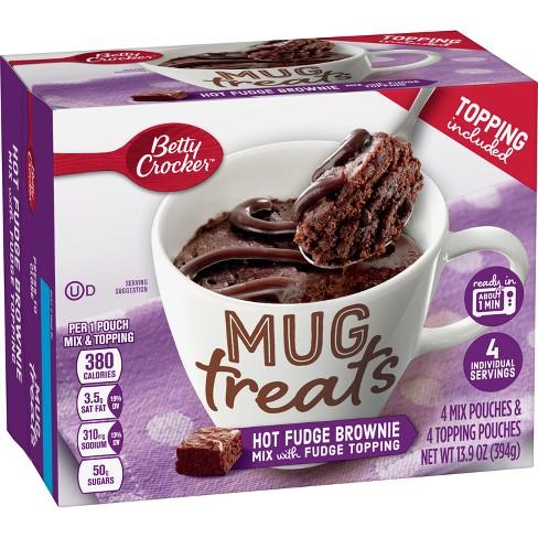 Betty Crocker Mug Treats Hot Fudge Brownie Cake Mix - 13.9oz/4ct - image 1 of 3