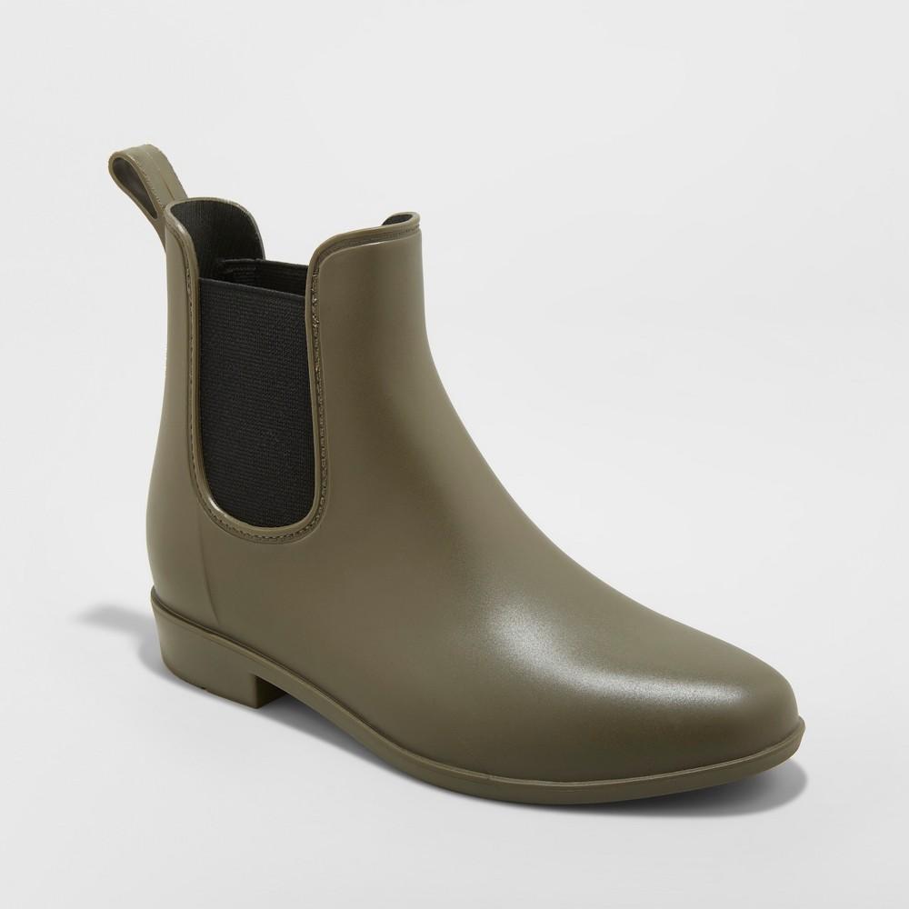 Women S Chelsea Wide Width Rain Boots A New Day 8482 Green 11w