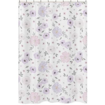 Lavendar Floral Shower Curtain - Sweet Jojo Designs