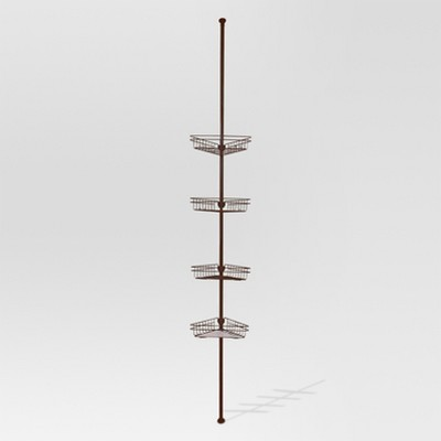 Rust Resistant Tension Shower Caddy - Bronze - Threshold™