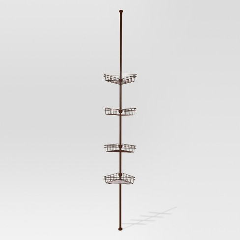 Rust Resistant Tension Shower Caddy Bronze Target