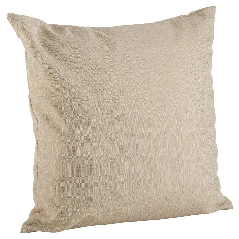 Beige Classic Indoor/Outdoor Throw Pillow (21) - Saro Lifestyle