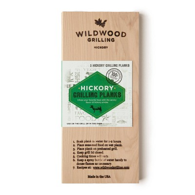 """Wildwood Grilling 2pk 5"""" x 11"""" Hickory Plank"""