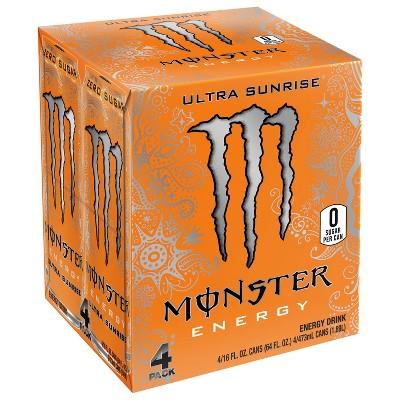 Monster Energy, Ultra Sunrise - 4pk/16 fl oz Cans