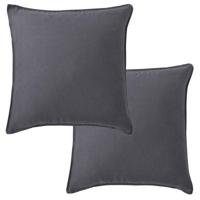 100% Linen  - Square Decorative Pillow Cover Set - 2pk - Levtex Home