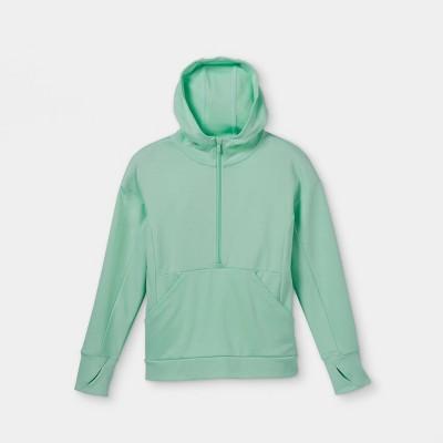 Girls' Ponte 1/2 Zip Hooded Sweatshirt - All in Motion™