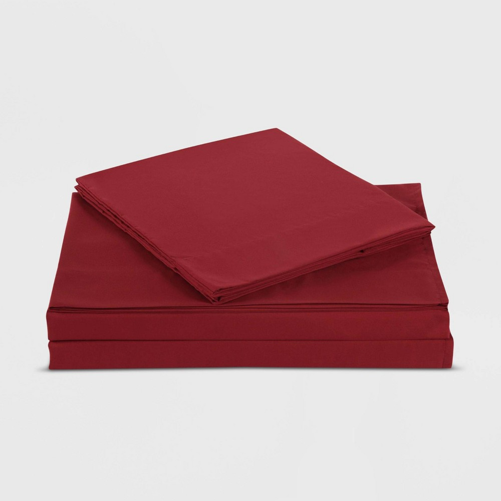 Image of Full Sheet Set Solid Red - My World