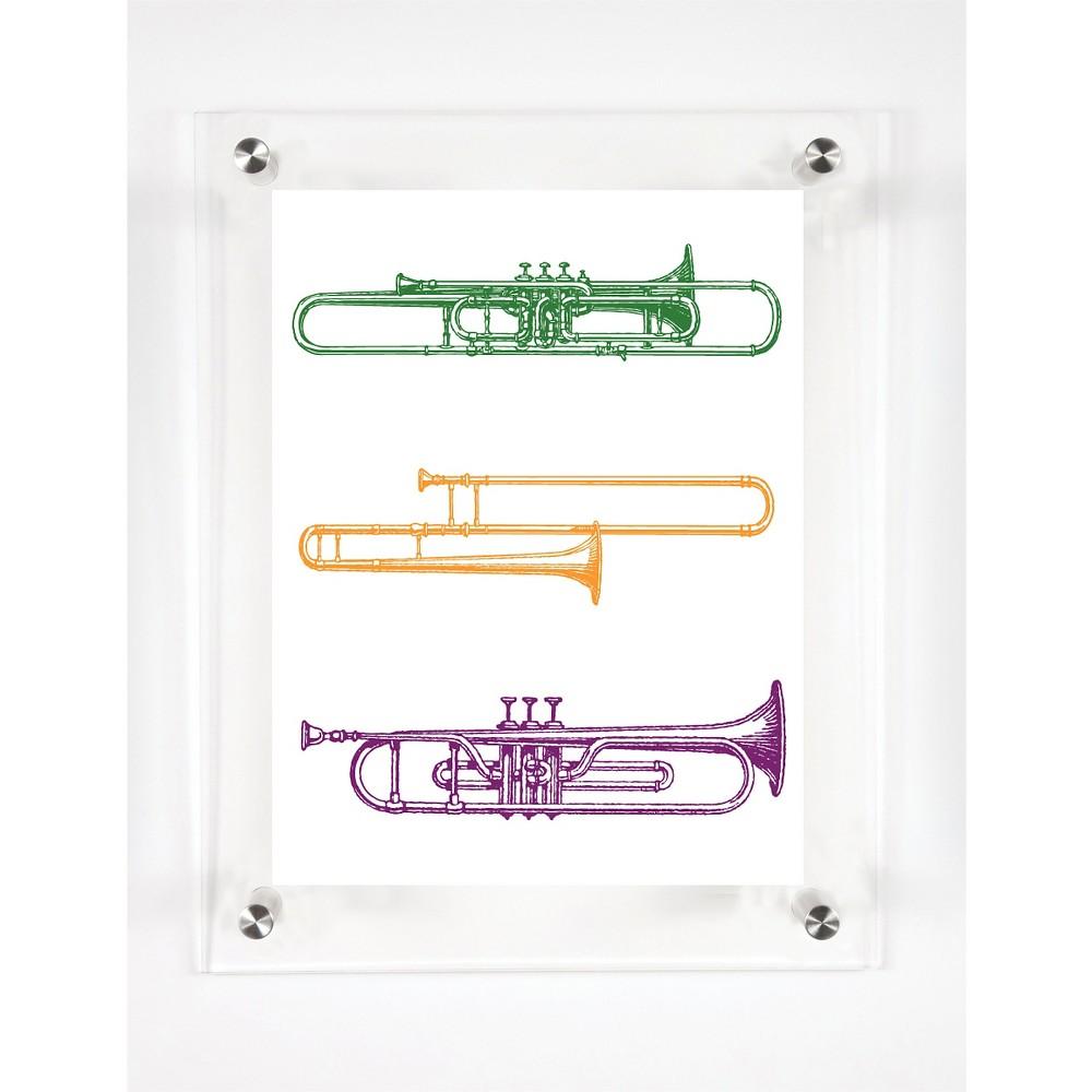 Mitchell Black Horns Decorative Framed Wall Canvas NoLa Jazz (12
