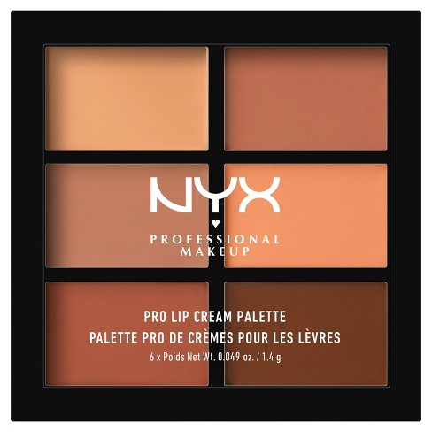 NYX Professional Makeup Pro Lip Cream Palette The Nudes 0.31 oz - image 1 of 3