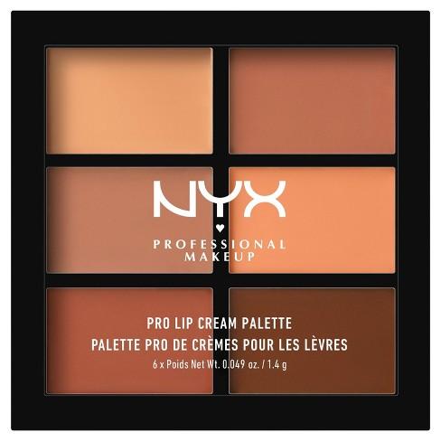 Nyx Professional Makeup Pro Lip Cream Palette The Nudes 0 31 Oz Target
