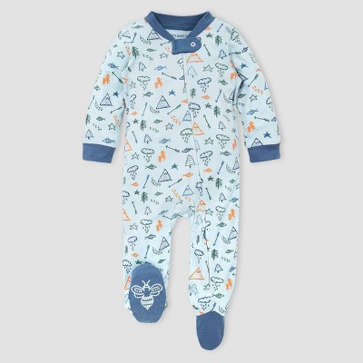 Burt's Bees Baby® Baby Boys' Organic Cotton Wild Wilderness Sleep N' Play - Blue Newborn