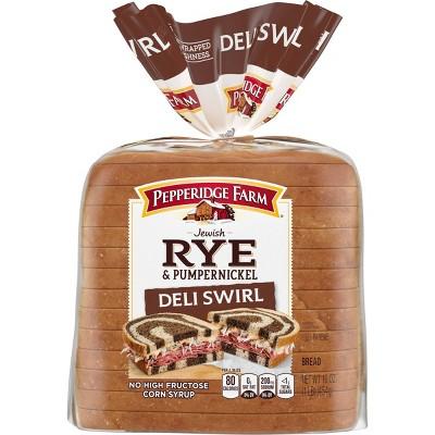 Pepperidge Farm Jewish Rye & Pumpernickel Deli Swirl Bread - 16oz