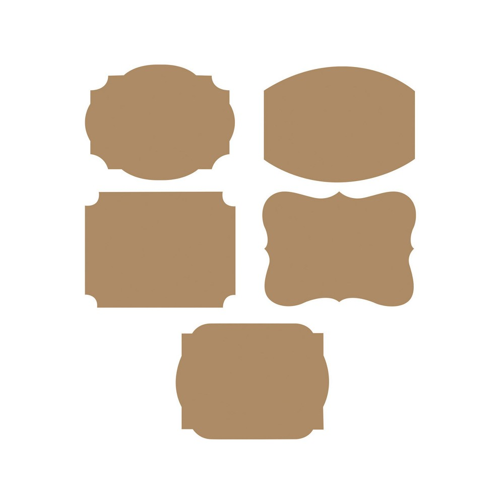2ct Brown Labels, Party Decorations and Accessories Add a cool way of customizing and labeling things with the Kraft Labels. Each of these labels measure 1.75  x 2.25  and are cut in various rectangular shapes. Sold in packages of 2, these labels are ideal for any celebration. Color: Brown.