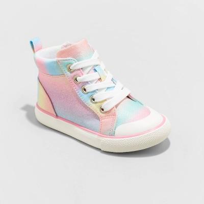 Toddler Girls' Novalee Rainbow Print Zipper Apparel Sneakers - Cat & Jack™