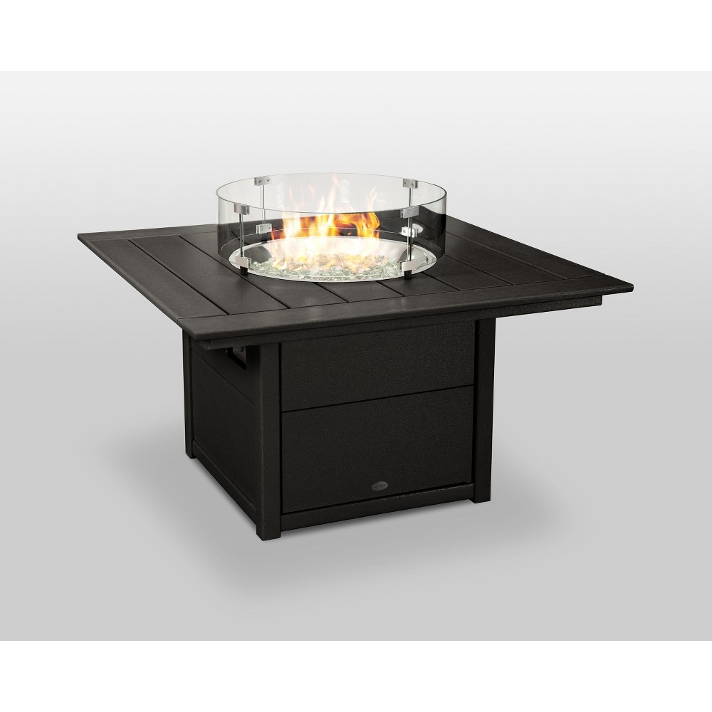 "Image of ""POLYWOOD 42"""" Fire Pit Table - Square - Black"""