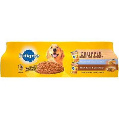Pedigree Chopped Wet Dog Food - 12ct