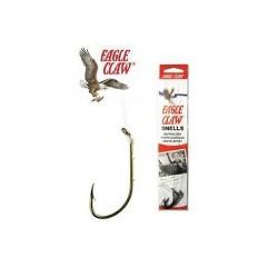Eagle Claw Bronz Plain Shank Snell 6Pk 031-2