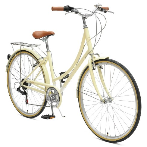 Critical Cycles Ladies Beaumont 7-speed City Bike - 44cm - Cream - image 1 of 2