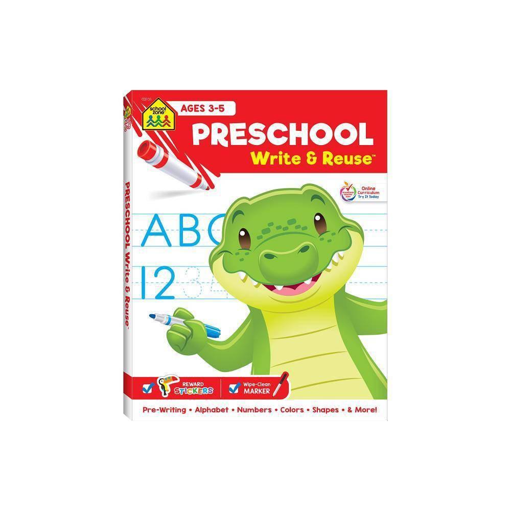 Preschool Write Reuse Spiral Binder By School Zone Publishing Spiral Bound