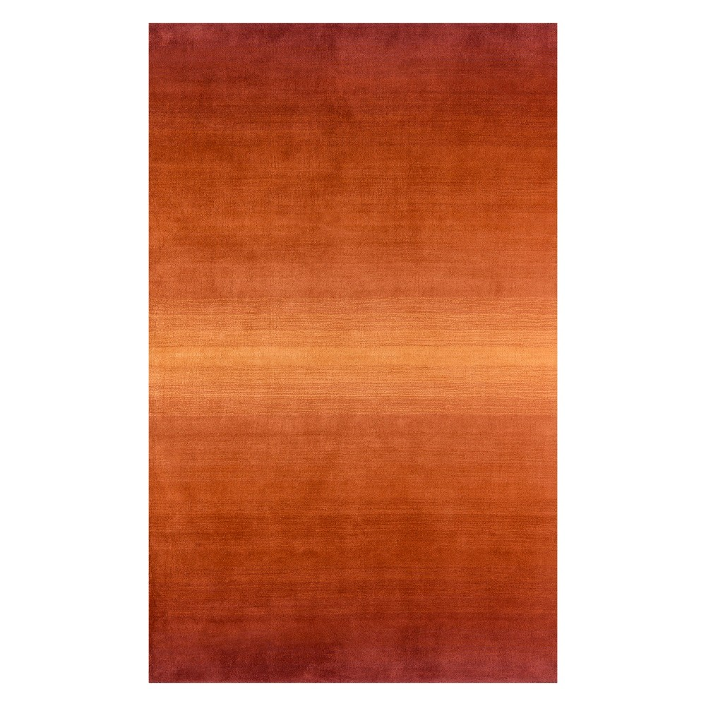 """Image of """"2'3""""""""X3'9"""""""" Solid Tufted Accent Rug Paprika - Momeni"""""""