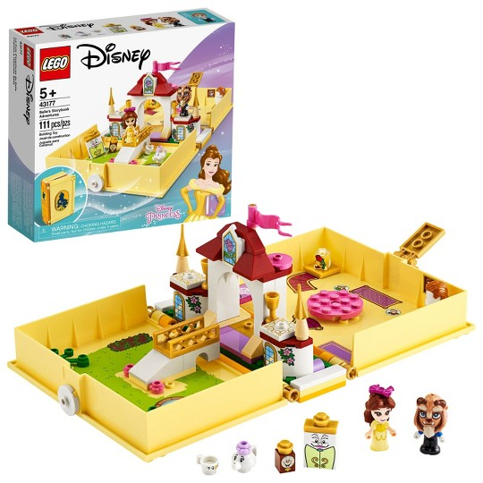 LEGO Disney Belle's Storybook Adventures 43177 Princess Building Playset image number null