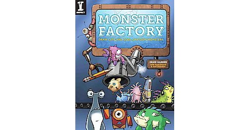 Monster Factory : Draw Cute and Cool Cartoon Monsters (Paperback) (Ernie Harker) - image 1 of 1