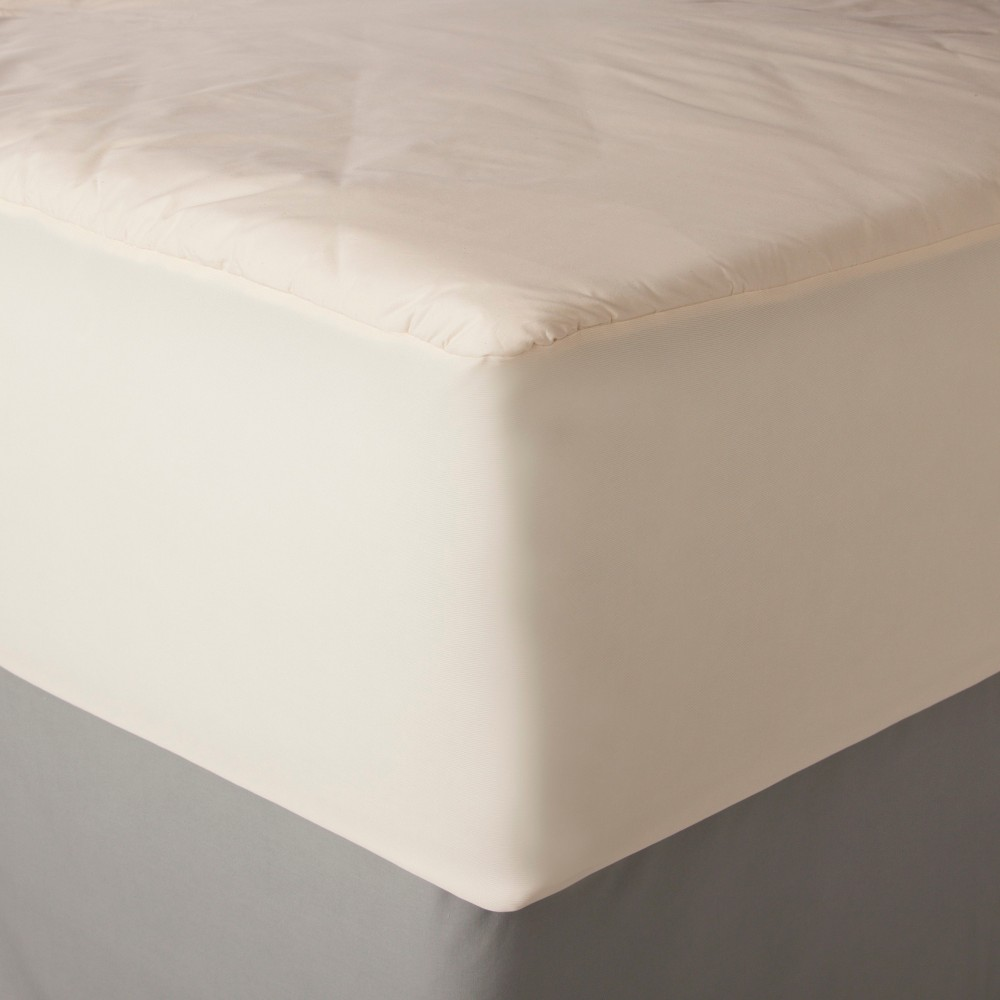 Image of AllerEase Organic Cotton Cover Allergy Protection Waterproof Mattress Pad - (Full)