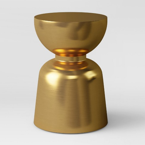 Ophdahl Hourglass Accent Table Brass - Project 62™ - image 1 of 3